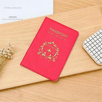 Passport Cover Pu Leather Marble Style, Travel Id Credit Card Holder, Packet