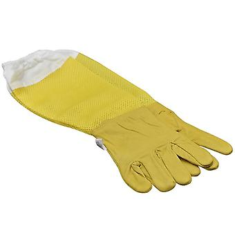 Beekeeping Protective Breathable Mesh Sheepskin And Cloth For Beekeeping Gloves
