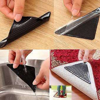 4pcs Carpet Pad Reusable Washable Rug Carpet Mat Grippers  (a)