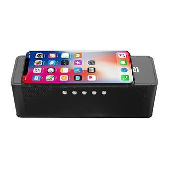 JY-28 تشى اللاسلكية سريع شاحن بلوتوث المتكلم NFC دعم المنبه ساعة تف بطاقة USB AUX