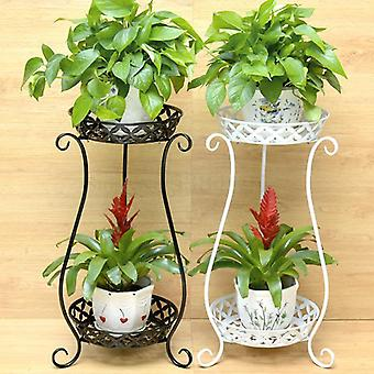 European Wrought Iron Multi-layer Flower Stand