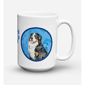 Caroline's Schätze LH9379BU-CM15 Berner Berg Hund Microwavable Keramik Kaffeebecher, 15 Unzen, Multicolor