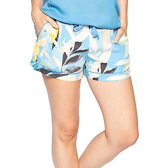 Cyberjammies Phoebe 4814 Dames's Blue Floral Modal Pyjama Short