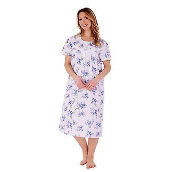 Slenderella ND77206 Kvinder's Floral Cotton Nightdress
