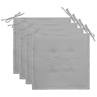 vidaXL puutarhatuolityyny 4 kpl. harmaa 40×40×3 cm