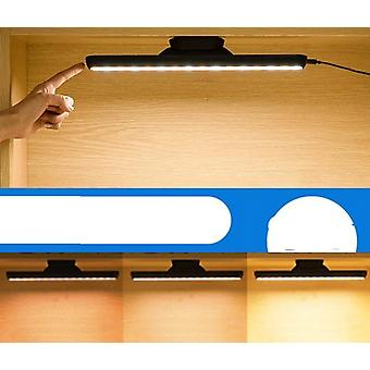 Hanging Magnetic Table, Led Lamp- Chargeable And Desk Lamp, Step-less Dimming,