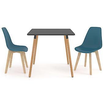 3 Piece Dining Set Turquoise