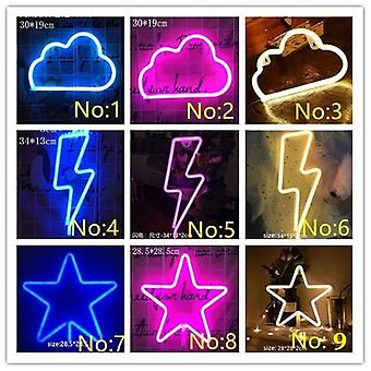 Led Neon Light, Colorful Rainbow, Sign For Room, Home, Party, Wedding