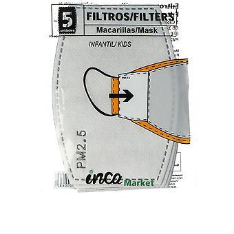 Inca Marknadsuppsättning 5 Filtros De Pm2.5 Infantil Unisex