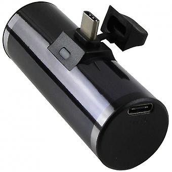 M-Edge Power Shot USB-C 2,000mAh Kannettava Power Bank - Musta
