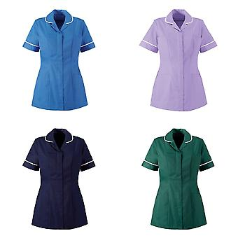 Alexandra Womens/Ladies Two Tone Classic Cut Medical/Healthcare Tunic (Pack of 2)