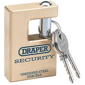 """דרייפר 64201 מומחה 63 מ""""מ באיכות צמודה מנעול פליז מוצק & 2 מפתחות"""