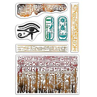 """Ciao Bella 4""""x6"""" Stamps - Walk Like an Egyptian"""