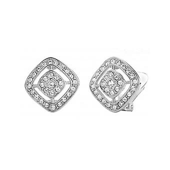Traveller Clip Earring - Rhodium Plated - Swarovski Crystals - 157015 - 442