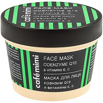 Cafe Mimi Coenzyme Q10 and Vitamin e and c Facial Mask