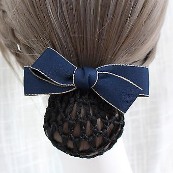Ribbon Hair Pins Head Flower Bow Bun Net Snood Hairpins Hair Clips