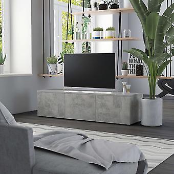 vidaXL armoire TV gris béton 120×34×30 cm panneau de particules