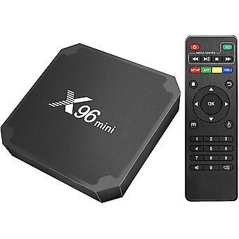 X96 Mini Android 9.0 Streaming Media Player Android 4K TV Box z czterordzeniowym chipsetem Amlogic S905W, 1 GB pamięci RAM + 8 GB eMMC, z WiFi i LAN100M (czarny)