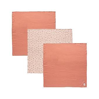Bebe Jou Tetra cloths 70x70cm 3rd Fabulous Wish Pink