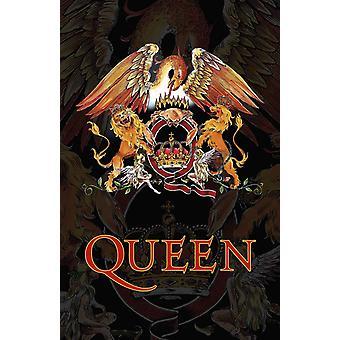 Queen Poster Classic Crest Band Logo ny Offisiell 70cm x 106cm Tekstil Flagg