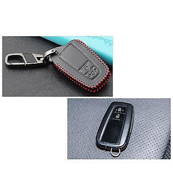 Leather Key Case For Toyota Camry Chr Corolla Rav4 Avalon Land Cruiser Prado