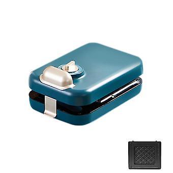 Blue 1 pcs multifunctional sandwich/waffle breakfast machine (multiple plates) homi2849