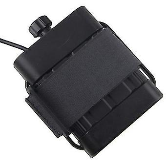 8.4V battery pack 26650 battery box, USB/8.4VDC dual interface waterproof battery box(Black)