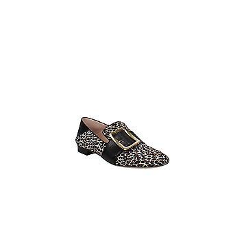 Bally   Janelle Leopard Print Calf Hair Smoking Slippers