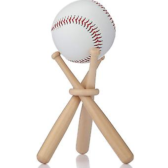 Wooden Baseball Display Stand Holder Softball Bracket Base With Baseball Bats For Baseball Player
