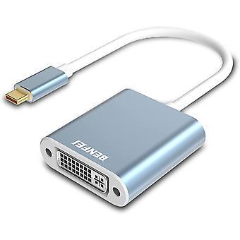 USB Typ C (Thunderbolt 3) auf DVI Adapter, USB 3.1 (USB-C) auf DVI-D Adapter männlich zu weiblich,