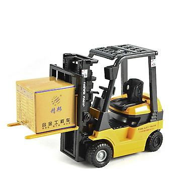1:60 Lifting Forklift Alloy Model,exquisite Die Casting Engineering Car,children's  Vehicles