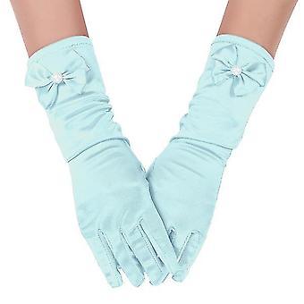 Faux Pearl Bows långa Satin handskar för prinsessan
