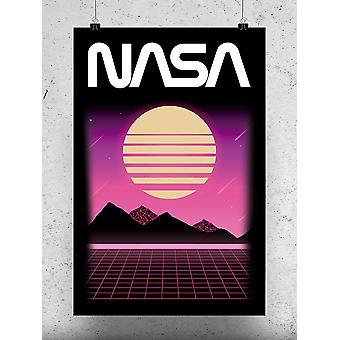 Moon And Mountains Poster - NASA Designs