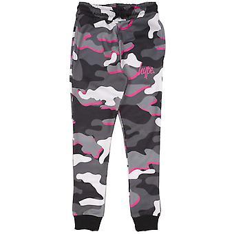 Hype Børn / Kids Pink Line Camo Jogging Bottoms