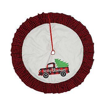Рождественская елка Юбка Автомобиль Узор Рождественский фартук для рождественских елочные украшения и украшения
