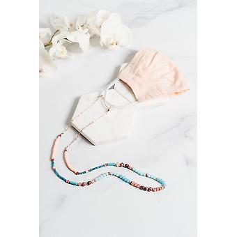 Eyewear straps chains francesca mask necklace