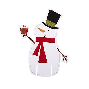 Let It Snow - Snowman Glass Decoration