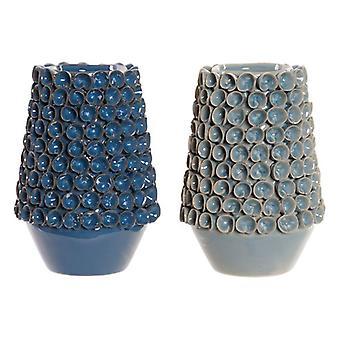 Vase DKD Home Decor Stoneware Mediterranean (2 pcs) (16 x 16 x 22 cm)