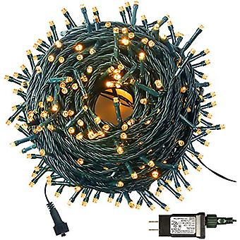 105ft 300 Led Christmas Lights For Christmas Tree Party Decoration,   Outdoor Indoor String Lights 8 Modes Memory Function (4 Sets Connectable)  Warm