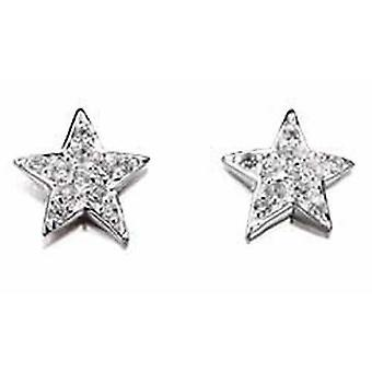 925 Silver zirconia Stars Earring