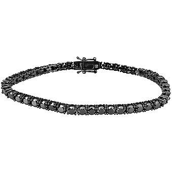 Iced out bling hoge kwaliteit riem - zwart 1 nld 4mm FULL