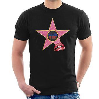 Calçada da t-shirt fama VIP estrela lábios masculina
