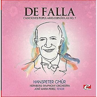 De Falla - importación de Estados Unidos de siete Canciones Populares Espanolas 7 Polo [CD]