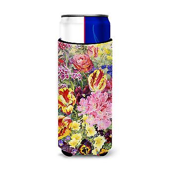 Summer Floral by Anne Searle Ultra Beverage Insulators for slim cans