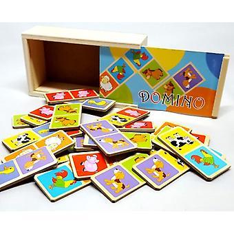 木造ドミノのゲームの動物