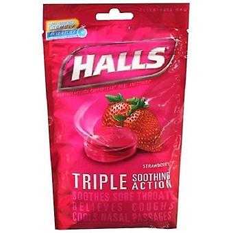 Hallene mentol muntlig bedøvende Drops jordbær
