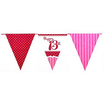 Creative Party Perfectly Pink 13th Birthday Bunting (12 Feet)