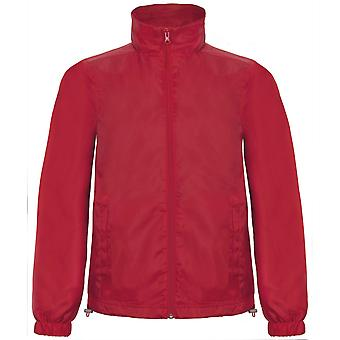 B&C Mens ID.601 Hooded Showerproof Windbreaker Jacket