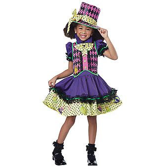 Deluxe Mad Hatter Hatter-ess Alice In Wonderland Story Book Week Girls Costume