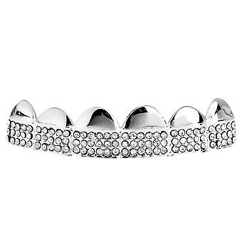 One size fits all bling Grillz - MICRO PAVE TOP - silver